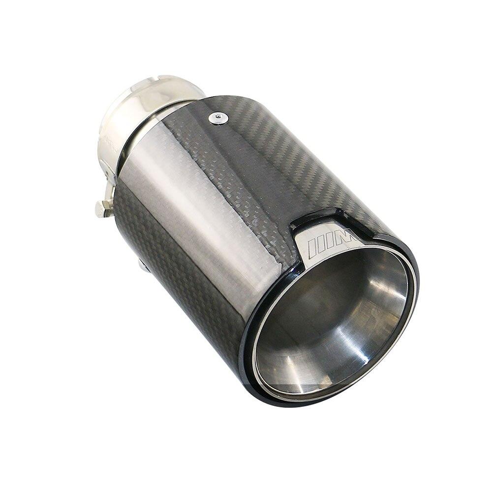 Livraison gratuite 1 pièces universel 2.5 ''entrée de haute qualité en Fiber de carbone de verre tuyau d'échappement Straigth voiture silencieux pointe avec pince