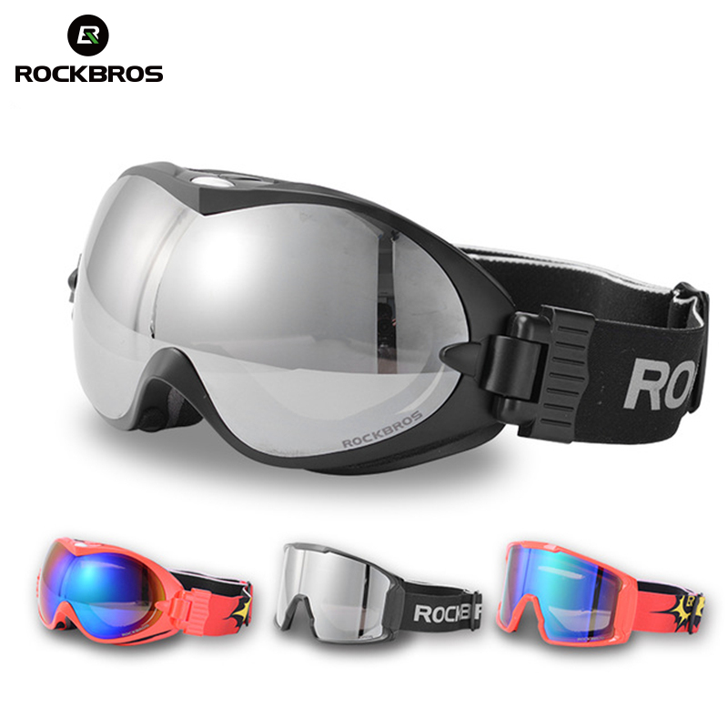 Rockbros Ski Goggles Double Layers Anti-Fog Snowboarding Glasses Uv400 Snowboard Goggles Laptop Lens Large Masks Ski Males Ladies's Glasses Youngsters
