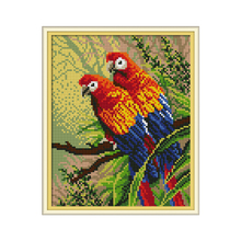 Joy Sunday Two Parrots Full Square Round 5D DIY Diamond Painting Picture of Rhinestones Mosaic Embroidery Sale Animal