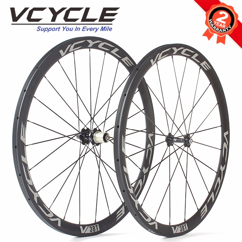 купить VCYCLE Light Carbon Wheels 38mm 50mm 60mm 88mm Carbon Clincher Tubular Wheelset Road Bike Bicycle Wheels недорого