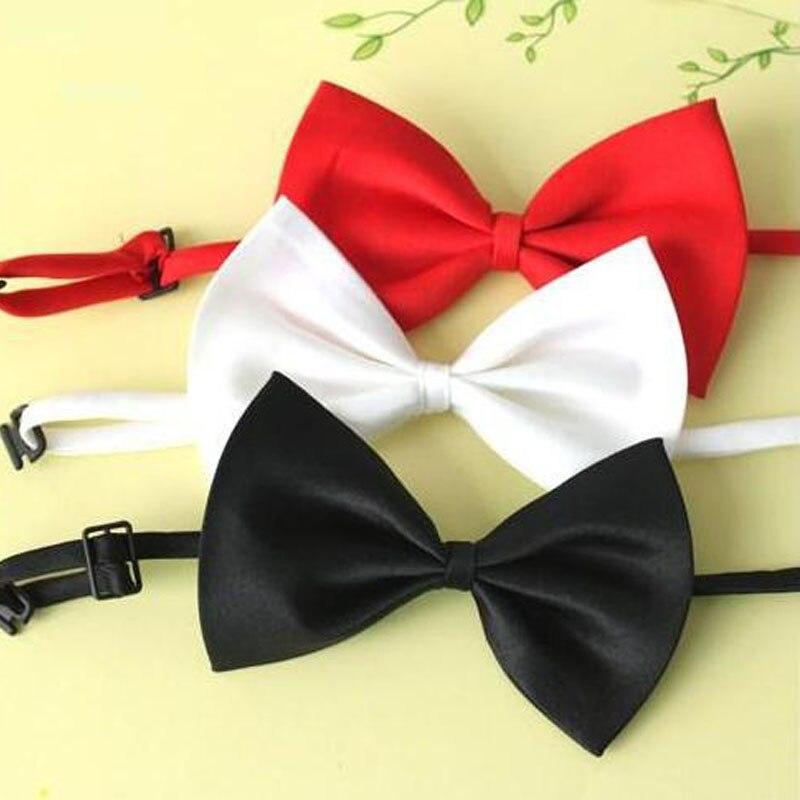 Verantwortlich Einstellbare Set 3 Stück Feste Fliege Plain Schmetterling Krawatten Junge Mädchen Studenten Bögen Kleidung Zubehör Krawatte Schule Party Zeigen