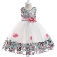 b9d6385ca2bf3 Children Kids Girl Dress Princess Sleeveless Round Collar Mesh Flower For  Wedding Party YH 17. US $20.24 US $14.17. Çocuk Kız Elbise Prenses ...