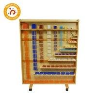 Детская игрушка Монтессори, деревянный набор из бусин и шкафа для изучения математики, детские игрушки