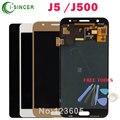 Pantalla lcd completo para samsung galaxy j5 j500 pantalla lcd táctil del digitizador asamblea negro oro blanco + herramientas de envío gratis