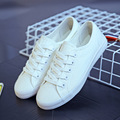 Clásico Blanco Nuevo 2017 Lona de La Manera Zapatos De Plataforma de Las Mujeres Zapatos Ocasionales Respirables Atan Para Arriba Calzado Zapatos Mujer B346