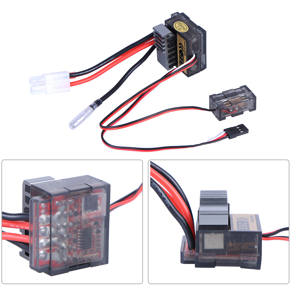 Durable Protection 320A RC Car Two Way Brushed Motor Professional Easy Install Speed Controller High Frequency ESC Accessories