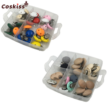 DIY Pacifier Chain Beech Animal Nipple Clasp Dummy Hold Clips Mix Color Wooden Pacifier Clips For