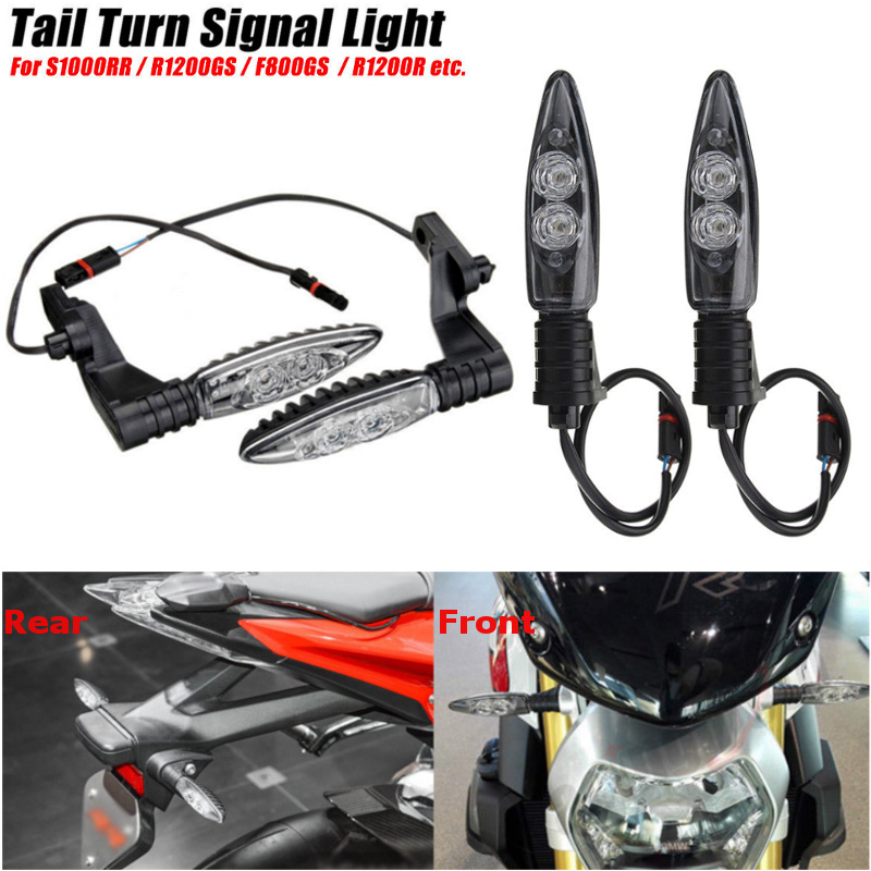 Front Short/Long Rear LED Turn Signal Lights Indicators Motorcycle For BMW R1200GS HP S1000RR ADVENTURE K1300 R R800GS F 800 R s1000rr turn led lights