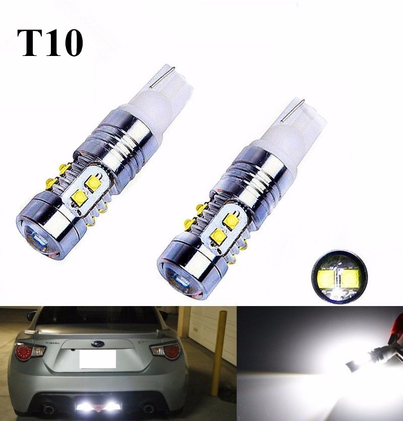 2 Pieces Super Bright Cree Chips 168 175 194 2825 W5W T10 LED Bulbs For Car Interior & Exterior Lights Replacement, Xenon White cn360 4pcs extremely bright 3014 chipsets 194 168 2825 w5w t10 new style led bulbs xenon white 2 years warranty included