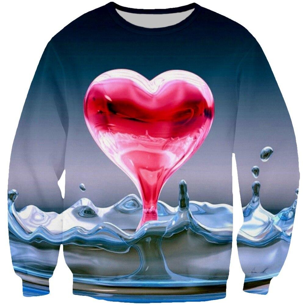 YX Girl 2018 New Fashion Freeze Heart 3d Printed Hoodie For Women Men Hoodies Sweatshirt Funny Tee Tops Dropshipping in Hoodies amp Sweatshirts from Men 39 s Clothing