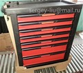 Automative Storage Tool Box Mobile Tool Trolley Metal Toolbox 6 Floors With 300+ Auto Tools