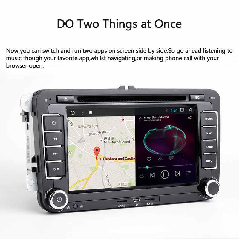 Josmlie radio samochodowe 2din Android 8.1 SAMOCHODOWY ODTWARZACZ DVD PlayerFor VW Passat B6 T5 Amarok Volkswagen Skoda Octavia 2 Superb 3 Seat Leon Golf56