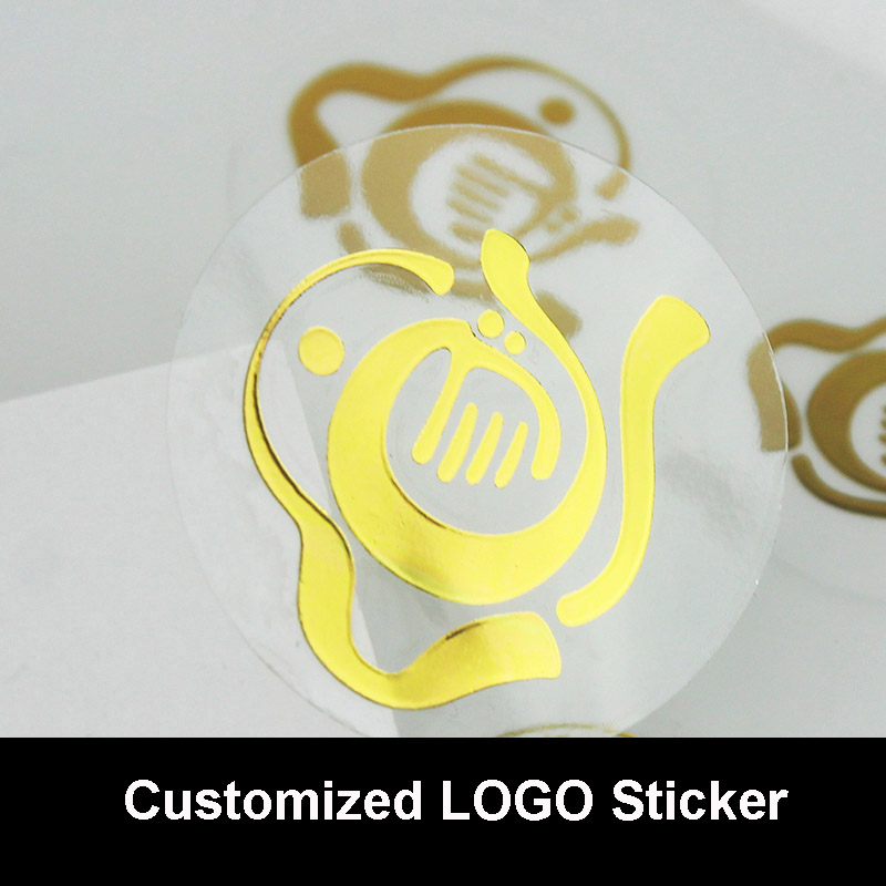 Customized Company Logo Gold/Silver Transparent Sticker Company QR Code Sticker Brand Label Colorful PVC Stickers Wholesale personalized printing labels custom stickers wedding stickers printed logo transparent clear adhesive round label gift tags h006