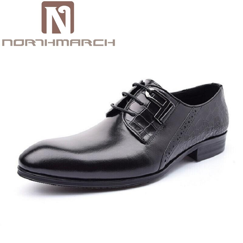 NORTHMARCH Luxury Italian Genuine Cow Leather Business Leather Dress Shoes Lace-Up Office Suit Shoes Wedding Classic Men Shoes odeon light 2911 3w odl16 137 хром янтарное стекло декор хрусталь бра e14 3 40w 220v alvada