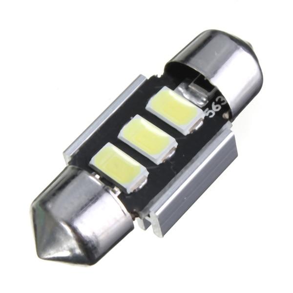 3e175825a02 50 unids alta potencia 31mm 5630 SMD chip 3 LED blanco Car Auto festoon  Dome interior Mapas luces bombilla dc12v