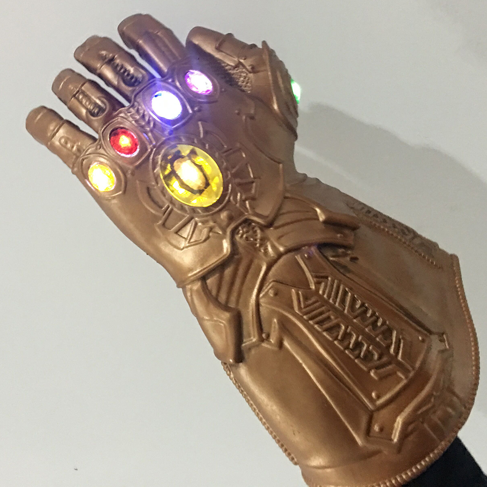 LED The Avengers Thanos Infinity Gauntlet Gloves Cosplay Props Party Latex Avengers: Infinity War Gloves Halloween Costume Gift(China)