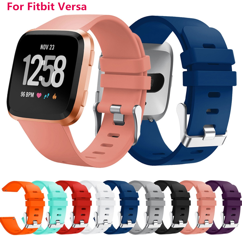 Silicone Replacement Band For Fitbit Versa Strap <font><b>Unisex</b></font> Sport Pure Color Smart <font><b>watch</b></font> <font><b>Bracelet</b></font> WatchStrap Belt for Fit bit Versa image