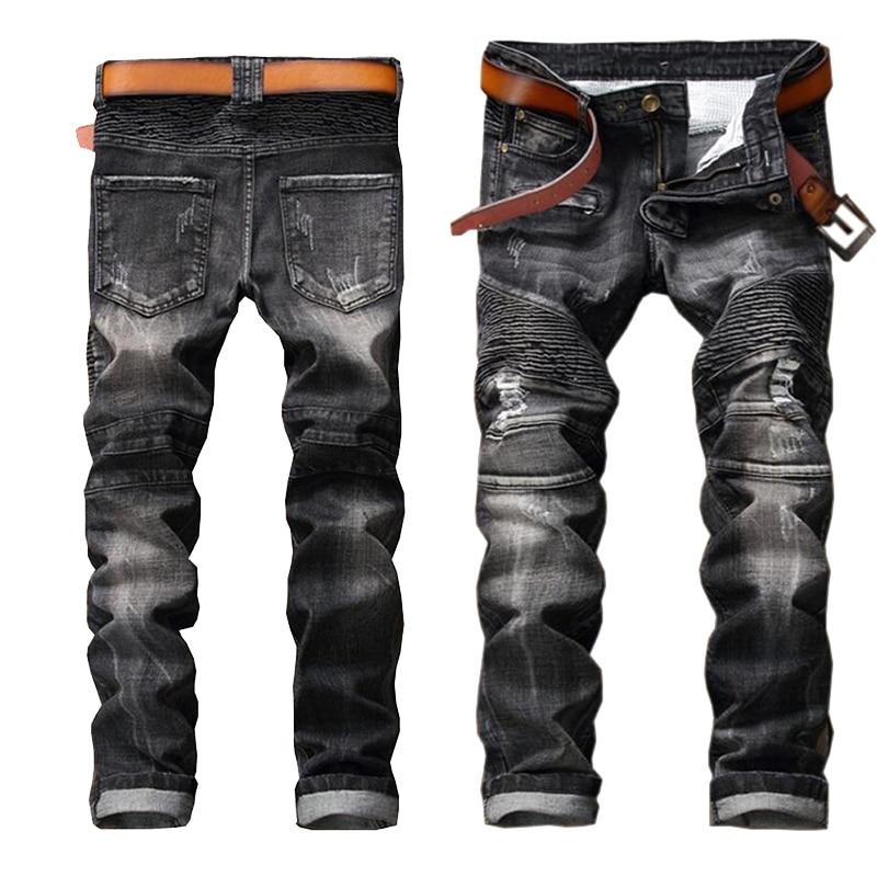 ФОТО Jeans men European American 2017 Style fashion brand cotton men jeans luxury Men's casual denim trousers zipper slim Skinny