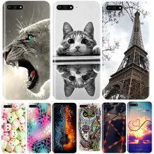 Phone Case For Huawei Y6 Y7 Y9 Prime 2018 Soft Silicone TPU Painted Back Cover For Huawei Y3 Y5 Y6 2017 II Pro Cute Cat Case for huawei y6 2019 case silicone soft tpu back cover fundas y6 prime 2019 matte phone bumper case for huawei y6 prime 2019 6 09