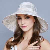 2018 Special Offer Gorra Hombre Beach Hat Export Hat Female Summer Sun Outdoor Folding Printed Cloth Cap Bow Net Yarn Sunshade