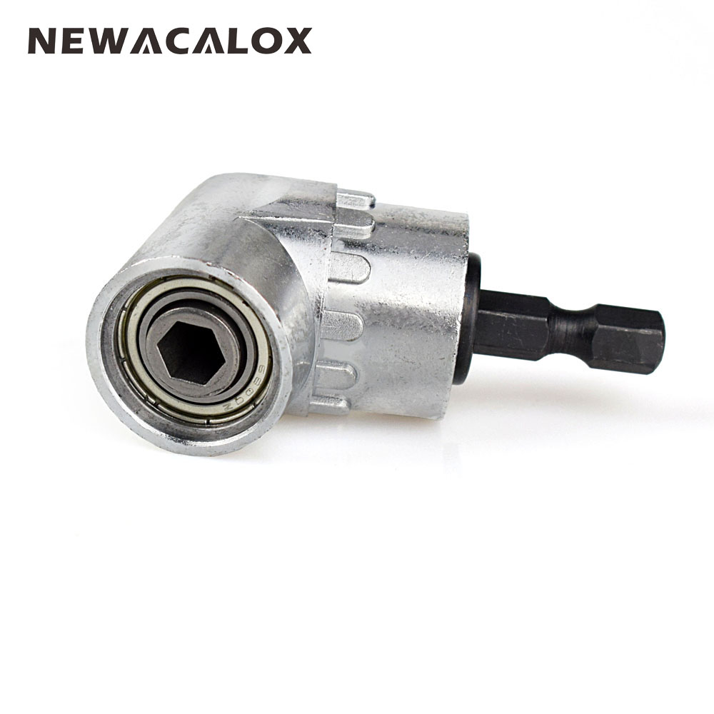 NEWACALOX 1/4 Inch 105 Degree Adjustable Hexbit Angle Screwdriver Attachment Of Power Tools Accessories