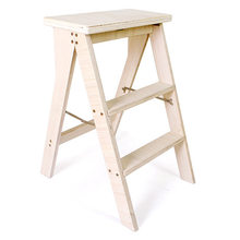 Bar Chair Bar Furniture Solid wood bar stools Single high stool Bar High chair portable Folding stool ladder kitchen step stool(China)