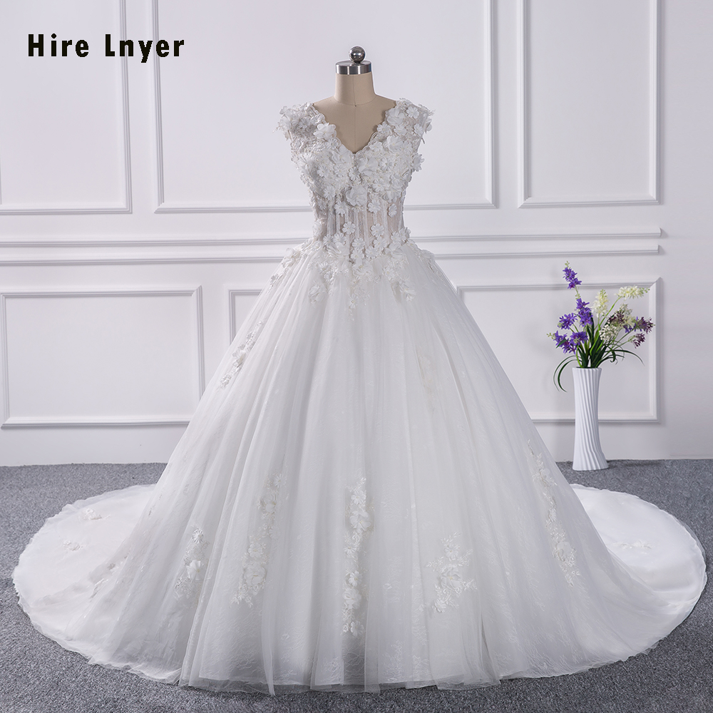 Hire Lnyer 100 Real Picture 1 5 Meter Chapel Train Pearls Lace