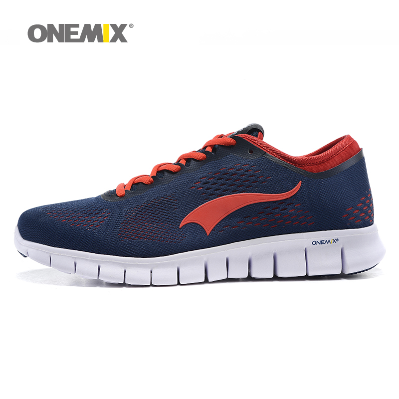 ФОТО Onemix-2016 Mens Barefoot Running Shoes Comfortable Women Walking Sneakers Portable Mesh Adult Sport Shoes EU36-45 Free Shipping