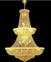 Top Quality Large Crystal Chandelier Light Fixture Gold Plated Finish Guaranteed 100 Free Shipping