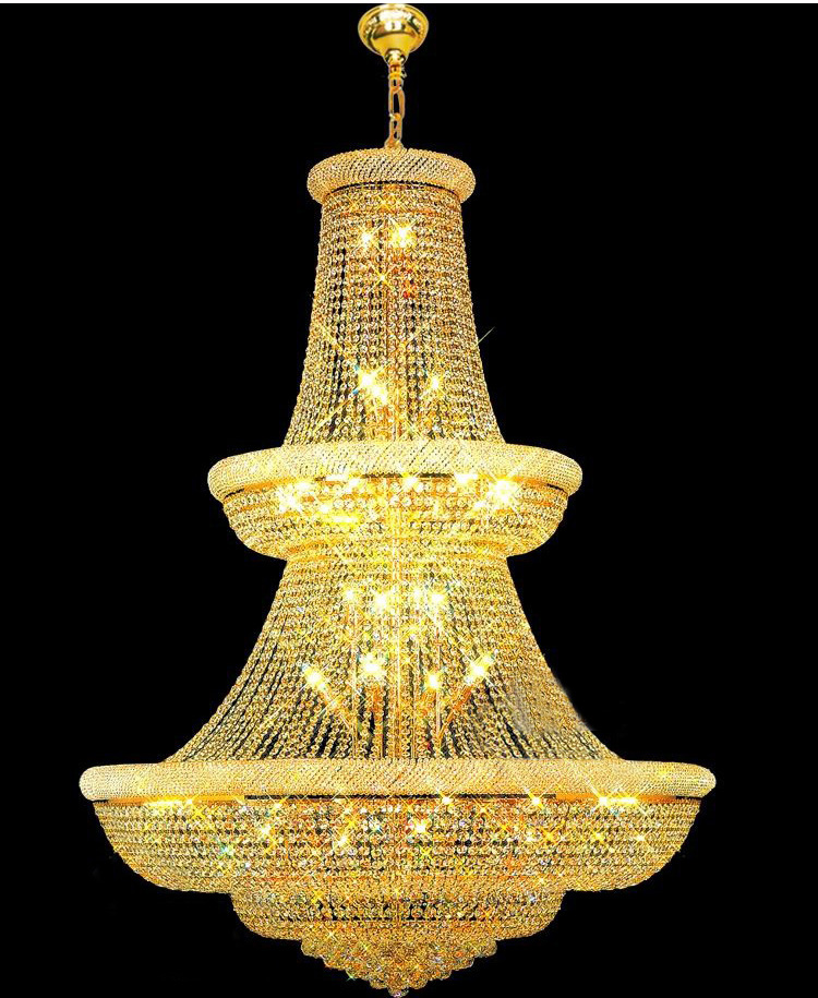 Top Quality Large Crystal Chandelier light Fixture Gold Crystal Chandelier light Guaranteed 100 Free Shipping