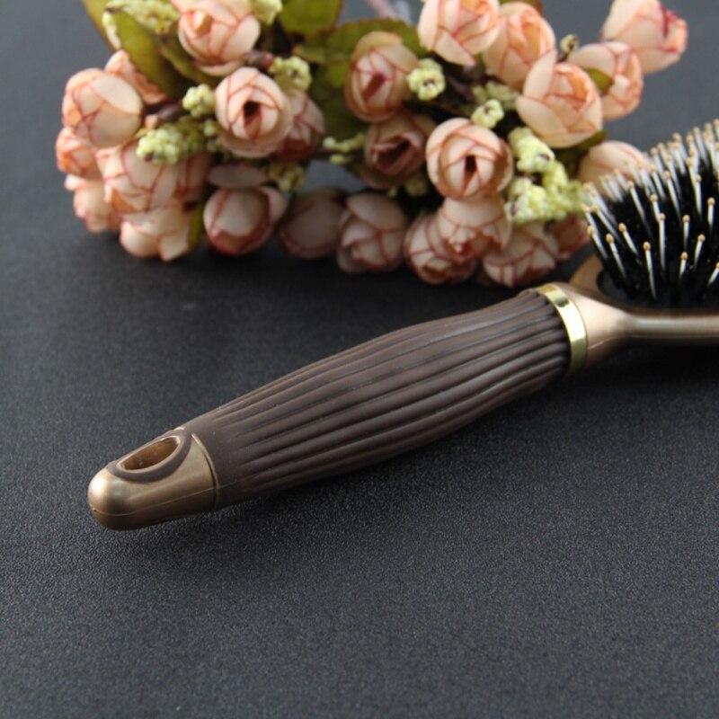 Women Daily Using Bristle Mane Brush Anti-Static Styling Tools Plastic Handle Brush Comb Newest