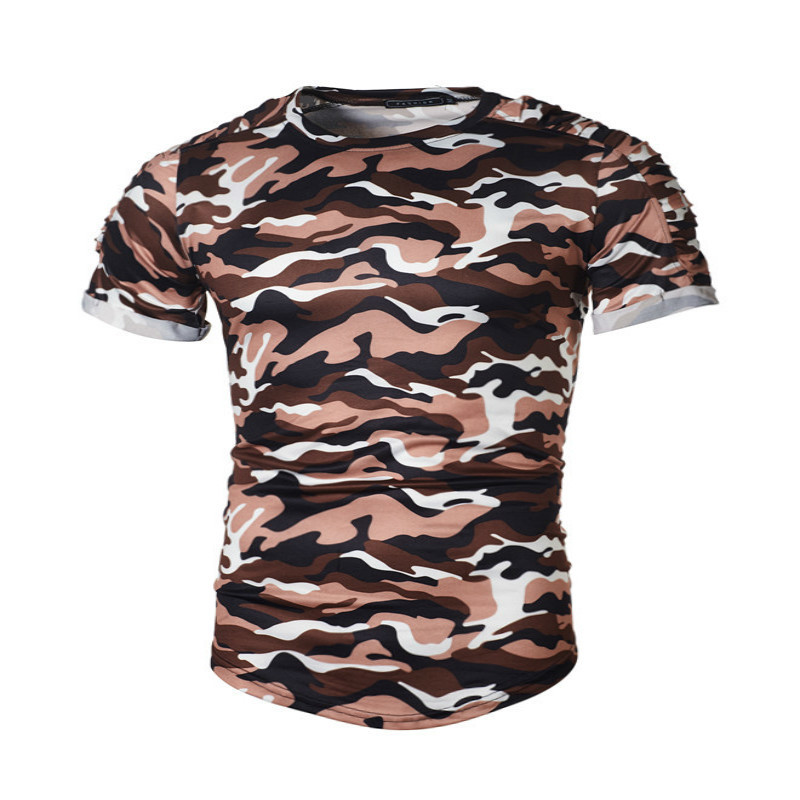 New Summer Military Camouflage Men T-shirt Casual O Neck T shirts Shirt homme Short Sleeve Camo mens Clothing fashion tshirts