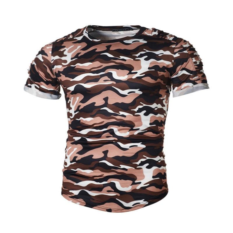New Summer Military Camouflage Men T-shirt Casual O Neck T shirts Shirt homme Short Sleeve Camo mens Clothing fashion tshirts