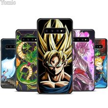 Dragon Ball Z poster Black Silicone Case for Samsung Galaxy S10 S10e S8 S9 Plus S7 A40 A50 A70 Note 8 9 Soft Cover Case Coque(China)