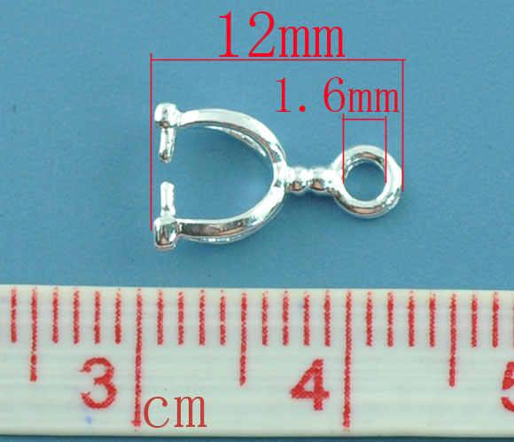 """Colgantes de cobre Clips y broches colgantes plateados 12mm (4/8 """") x 7mm (2/8""""), 2 uds nuevo"""