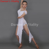 custom made Latin dance Dress Women Silk Tango Dress Rumba Skirt Samba Costume Ballroom Latin Dress Hcdance XXS 6XL