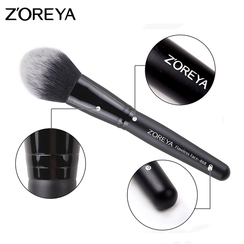 Image 4 - ZOREYA 10pcs Portable Makeup Brush Set for Mascara Eye Powder Eyebrow Cosmetics Tools-in Eye Shadow Applicator from Beauty & Health