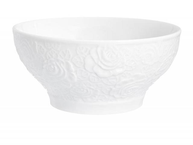 Салатник Elan gallery, Белые розы, 14 см