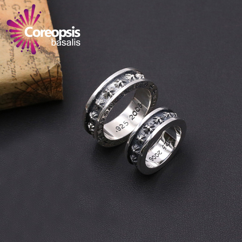 Coreopsis sterling silver jewelry rings for women silver 925 vintage jewelry retro style steel ring wedding rings men jewelry