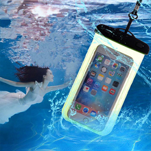 Underwater Phone Pouch Dry Bag Waterproof Case Cover For iPhone X 8 Samsung S9 Mobile Phone Swimming Diving Rafting Phone Bags стоимость