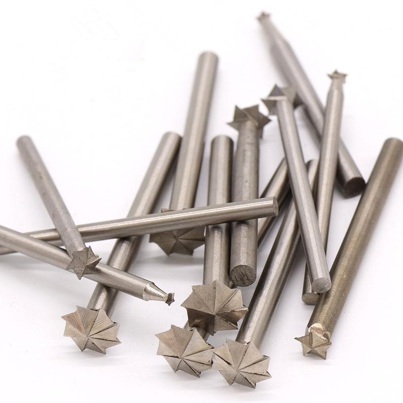 ZtDpLsd 1Pcs 3mm/4mm Shank Carbide Burrs Drill Bit Rotary Burr Micro Bits Metal Woodworking Carving Glass Diamond Cutting Tools