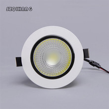 Hot Sale High Quality 9W/12W Dimmable COB hight light LED Ceiling Light ,90~100LM/W, led ceiling lamp,AC85~265V.Factory Wholesal