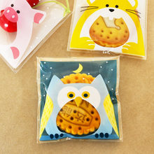 100pcs Cute Animal Plastic Candy Bags OPP Bag Self Adhesive Owl Cat Pig Cookie Gift Packaging Bags Wedding Party Decoration(China)