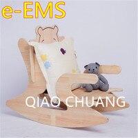 Дети интеллект игрушечные лошадки DIY дуб деревянное кресло качалка творческий мультфильм медведь может разобрать детский стул G1528