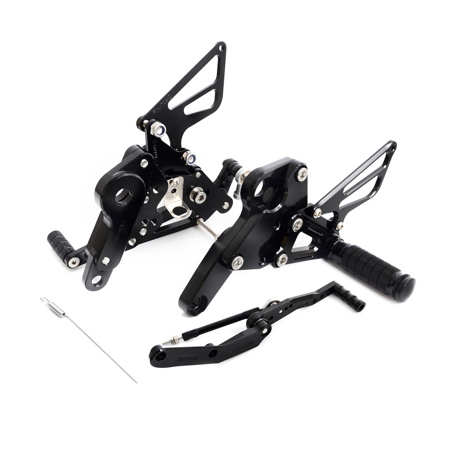 NICECNC CNC Adjustable Rearsets Foot Peg Footrest Footpeg For For Yamaha MT-09 MT09 FZ09 FZ-09 2013 2014 2015 2016 bjmoto motorcycle mt09 fz09 adjustable cnc foot rest peg rear set for yamaha mt 09 fz 09 2013 2014 2015 2016