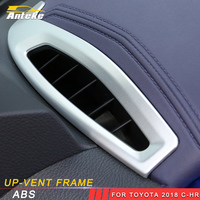 ANTEKE Auto Car styling Air conditioner up vent frame Trim Stickers Covers Interior Accessories For Toyota 2018 C HR