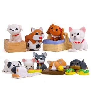 Image 4 - Minifigura de perro Artificial para decoración, ornamento miniatura para el hogar, escritorio, accesorio para decoración DIY
