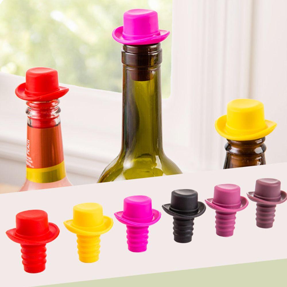 2 pcs/set Hat Shape Wine Bottle Stopper food grade Silicone ...