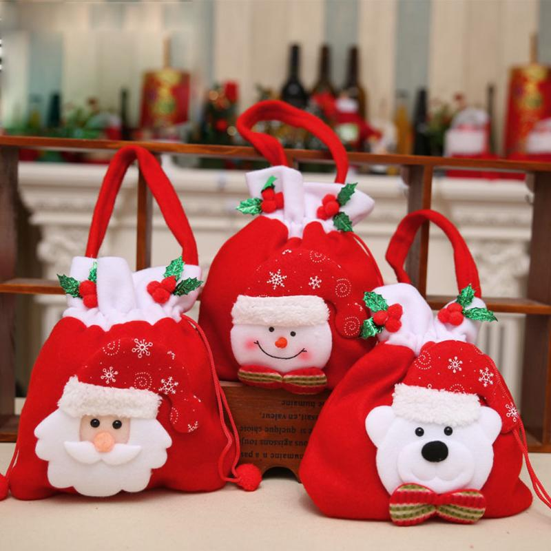 1pcs Christmas Gift Bag Candy Bag Xmas Decoration Supplies Christmas Candy Socks Navidad Decoraciones Para El Hogar Envio