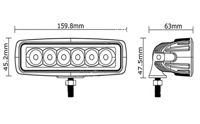 18W Flood Cree LED Light Work Bar Lamp Driving Fog Offroad SUV 4WD Boat Truck Sense Light